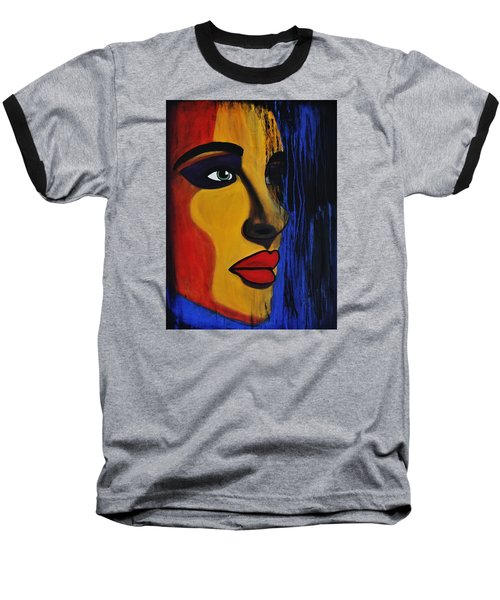 Baseball T-Shirt featuring the painting Reign Over Me 2 by Michael Cross