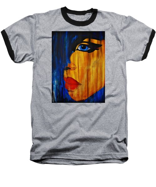 Baseball T-Shirt featuring the painting Reign Over Me 3 by Michael Cross