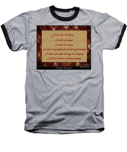 Reiki Principles Baseball T-Shirt