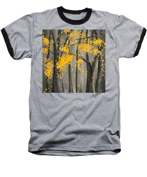 Rejuvenating Elements- Yellow And Gray Art Baseball T-Shirt