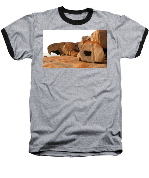 Remarkable Rocks Baseball T-Shirt by Evelyn Tambour