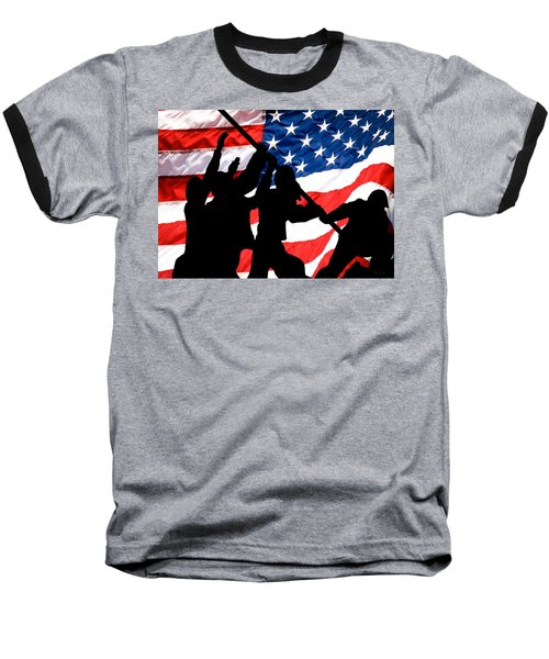 Remembering World War II Baseball T-Shirt by Bob Orsillo
