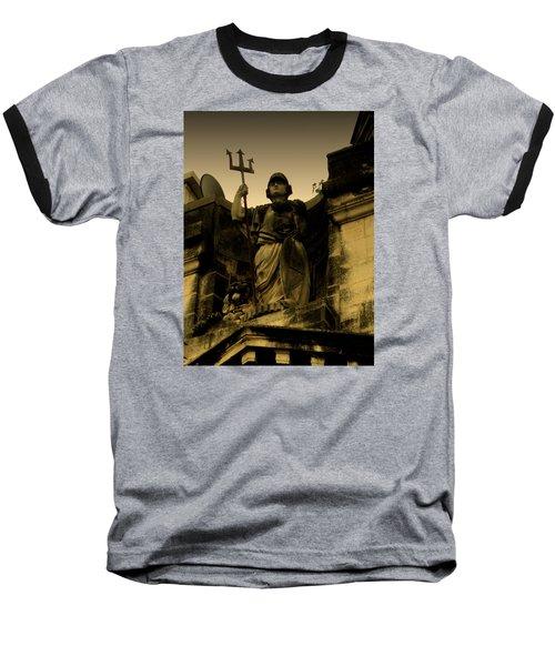 Trident To The Sky Baseball T-Shirt by Salman Ravish