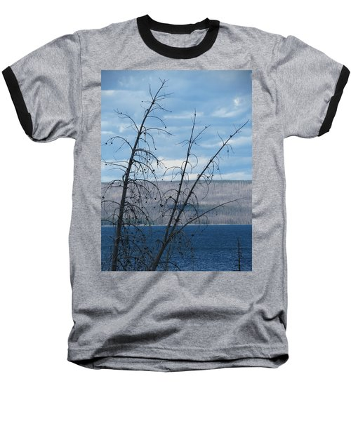 Baseball T-Shirt featuring the photograph Remnants Of The Fire by Laurel Powell