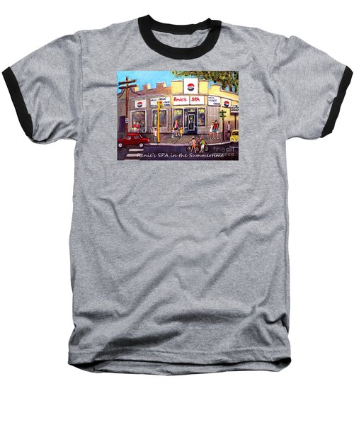 Renie's Spa In Summertime Baseball T-Shirt by Rita Brown
