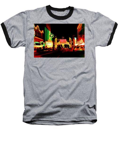 Reno At Night Baseball T-Shirt