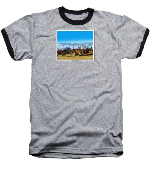 Reno Skyline From Rancho San Rafael Baseball T-Shirt