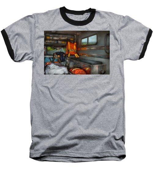 Rescue - Emergency Squad  Baseball T-Shirt by Mike Savad