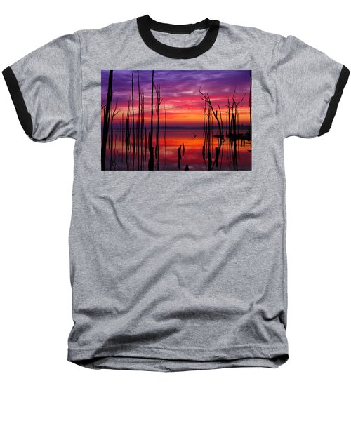 Reservoir At Sunrise Baseball T-Shirt