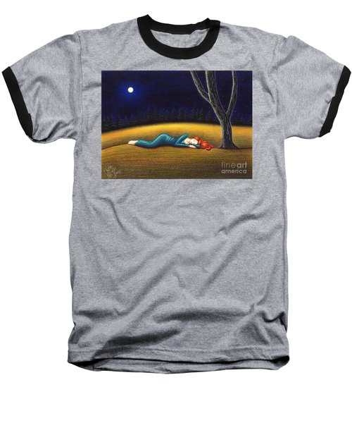 Rest For A Weary Heart Baseball T-Shirt by Danielle R T Haney