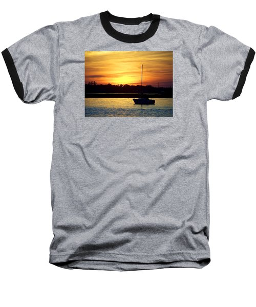 Baseball T-Shirt featuring the photograph Resting In A Mango Sunset by Sandi OReilly