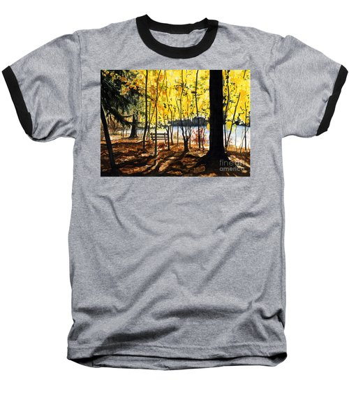 Resting Place Baseball T-Shirt by Barbara Jewell