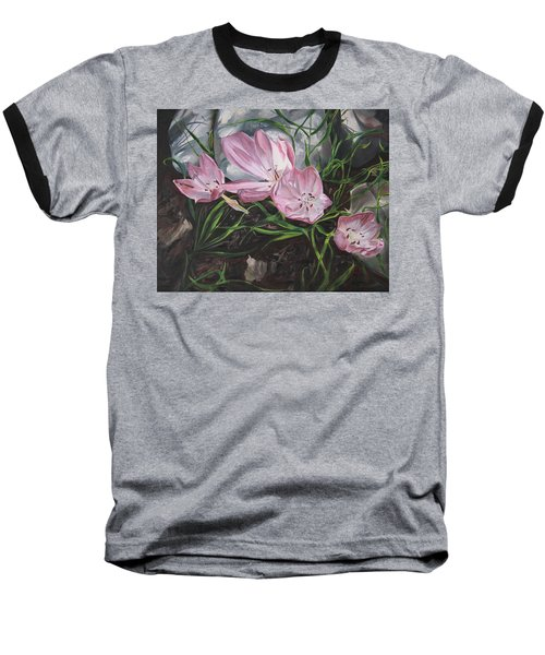 Resurrection Lilies Baseball T-Shirt by Jane Autry