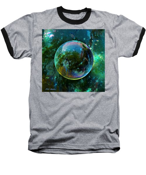 Reticulated Dream Orb Baseball T-Shirt by Robin Moline