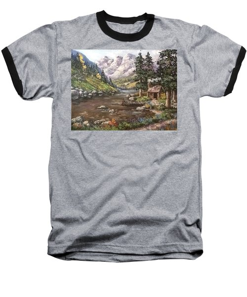 Baseball T-Shirt featuring the painting Retreat by Megan Walsh