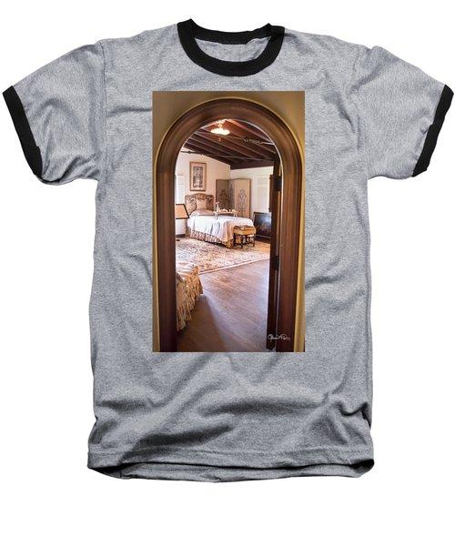 Retreat To The Past Baseball T-Shirt by Susan Molnar