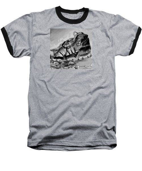 Baseball T-Shirt featuring the painting Retro Adidas by Jeffrey S Perrine