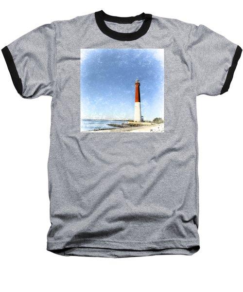 Retro Barnegat Lighthouse Barnegat Light New Jersey Baseball T-Shirt