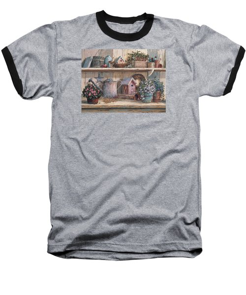 Rhapsody In Rose Baseball T-Shirt by Michael Humphries