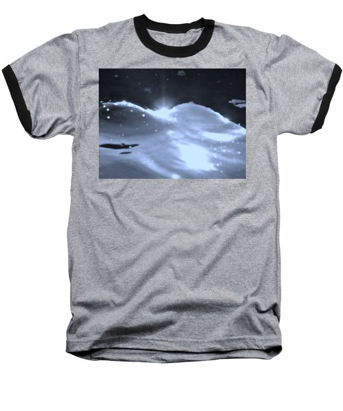 Moon Sunset Baseball T-Shirt by Deborah Moen