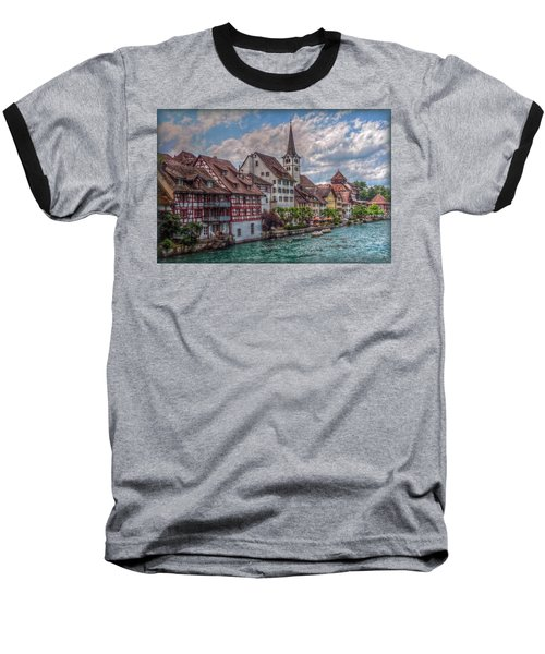 Baseball T-Shirt featuring the photograph Rhine Bank by Hanny Heim