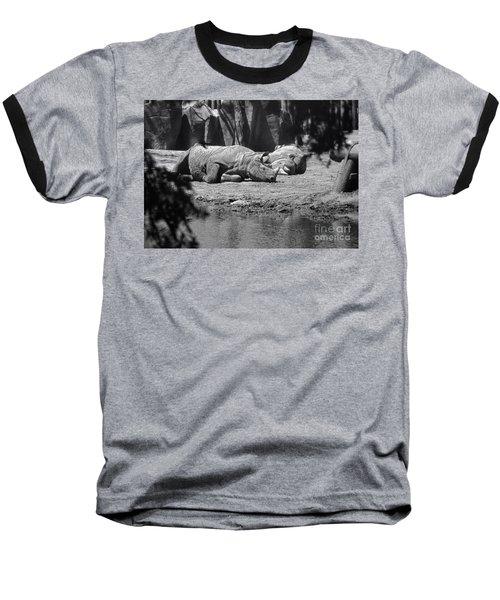 Rhino Nap Time Baseball T-Shirt by Thomas Woolworth
