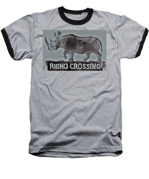 Baseball T-Shirt featuring the photograph Rhino Xiv by Larry Campbell