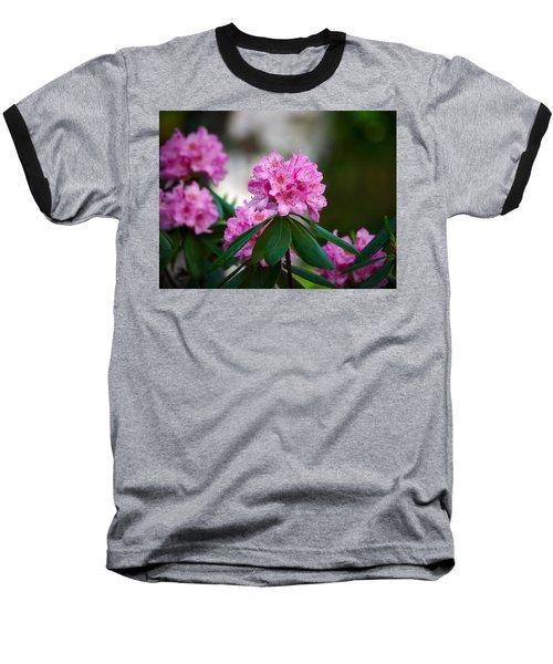 Rhododendron Baseball T-Shirt by Jouko Lehto