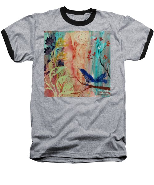 Baseball T-Shirt featuring the painting Rhythm And Blues by Robin Maria Pedrero