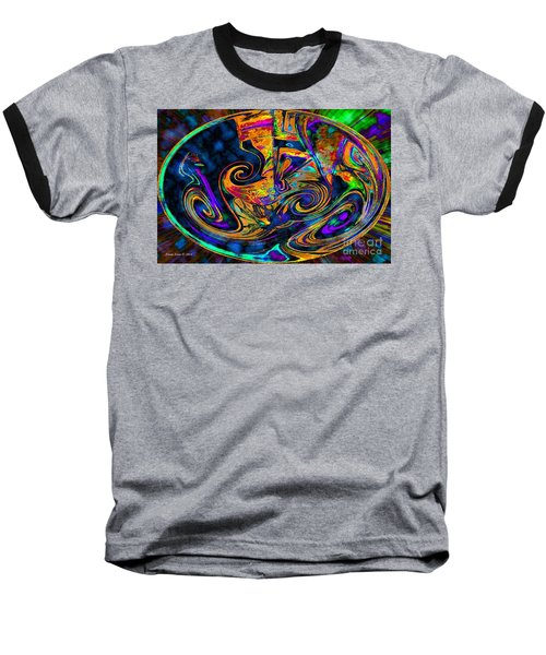 Baseball T-Shirt featuring the digital art Rhythm Of The Soul by Annie Zeno