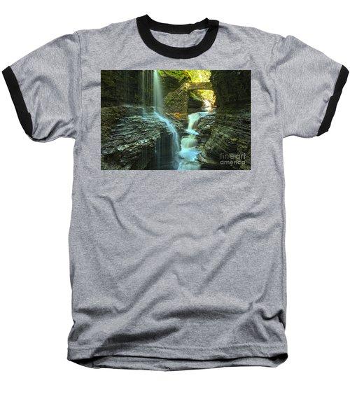Rainbow Falls Watkins Glen Baseball T-Shirt by Adam Jewell