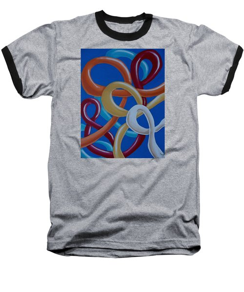 Ribbons In The Sky Baseball T-Shirt