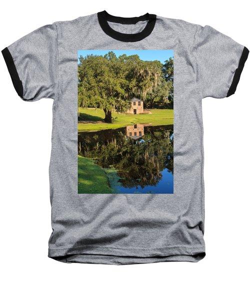 Rice Mill  Pond Reflection Baseball T-Shirt