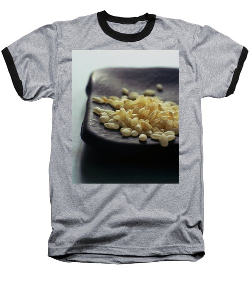 Rice On A Black Plate Baseball T-Shirt