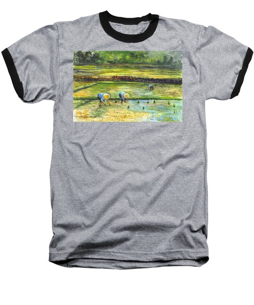 The Rice Paddy Field Baseball T-Shirt