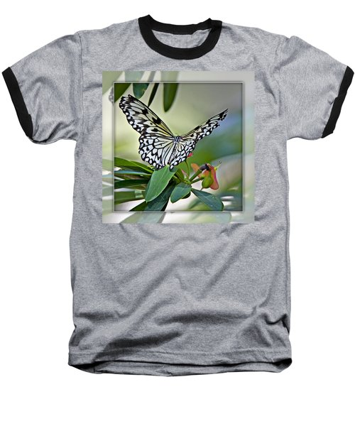 Rice Paper Butterfly 2b Baseball T-Shirt