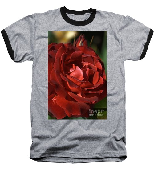 Baseball T-Shirt featuring the photograph Rich Is Rose by Joy Watson