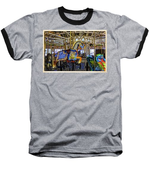 Ride A Painted Pony - Coney Island 2013 - Brooklyn - New York Baseball T-Shirt by Madeline Ellis