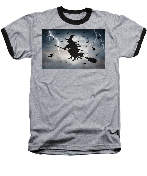 Ride Like Lighting Baseball T-Shirt