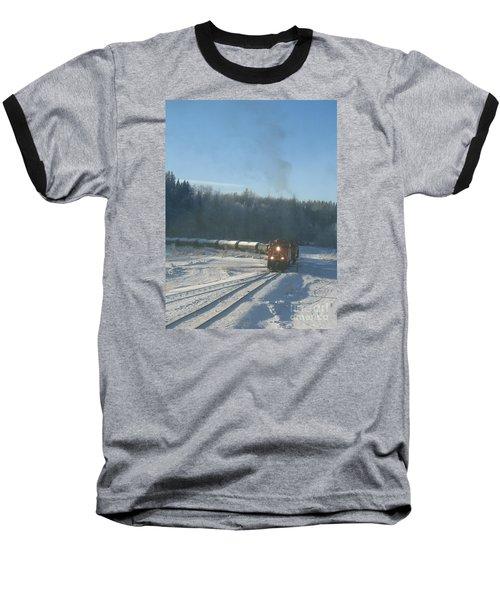 Ride The Rails Baseball T-Shirt