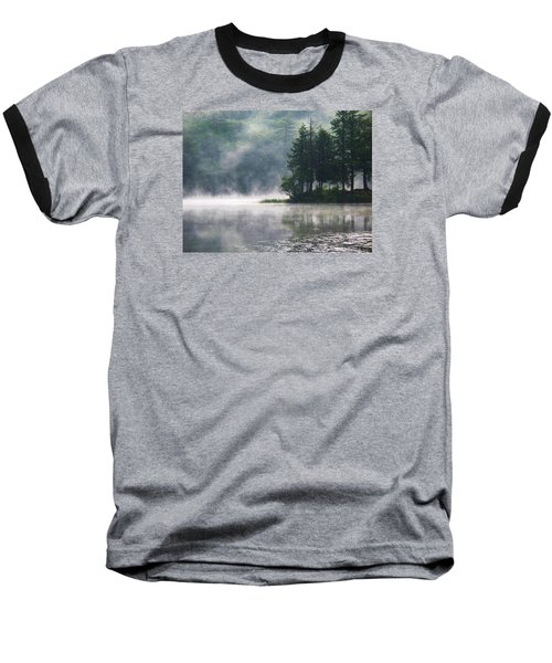 Ridge Road Morning Mist Baseball T-Shirt by Joy Nichols