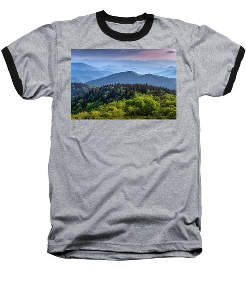 Ridges At Sunset Baseball T-Shirt