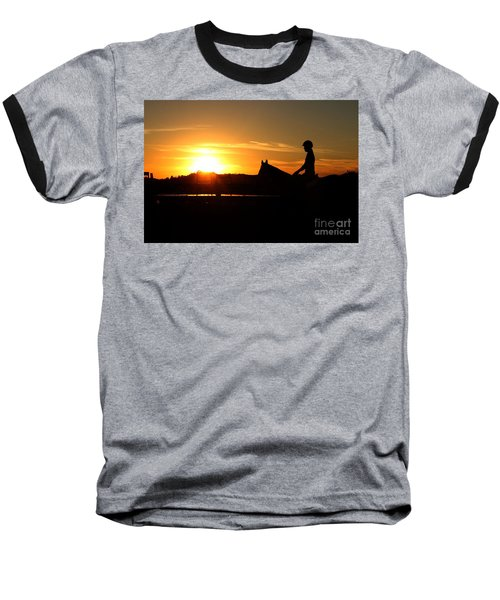 Riding At Sunset Baseball T-Shirt