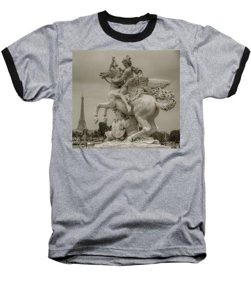 Riding Pegasis Baseball T-Shirt