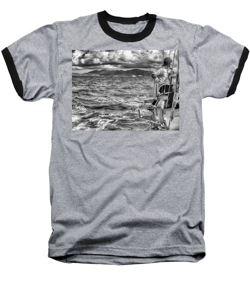 Baseball T-Shirt featuring the photograph Riding The Crest Of The Wave by Howard Salmon