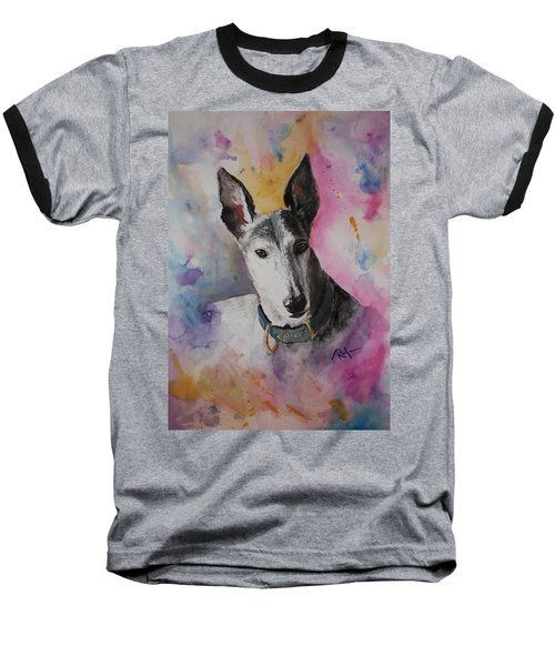 Baseball T-Shirt featuring the painting Riding The Rainbow by Rachel Hames