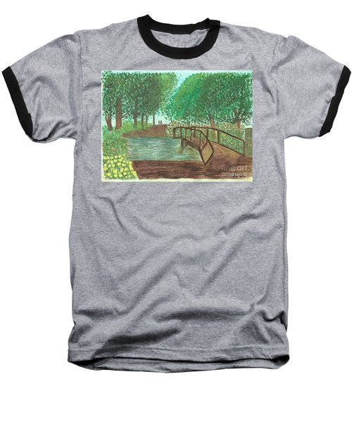Riding Through The Woods Baseball T-Shirt by Tracey Williams