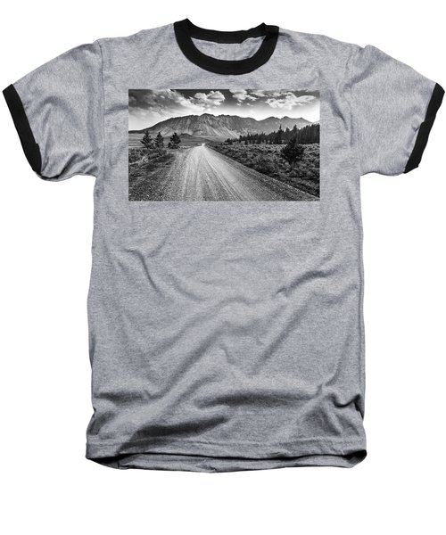 Riding To The Mountains Baseball T-Shirt