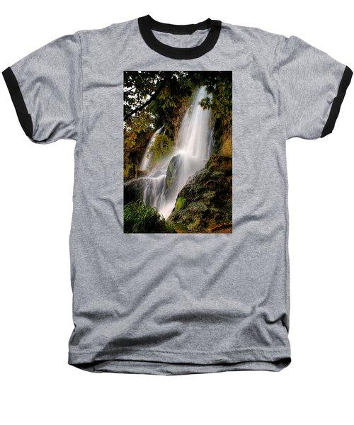 Baseball T-Shirt featuring the photograph Rifle Falls by Priscilla Burgers