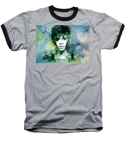 Rihanna 4 Baseball T-Shirt by Bekim Art